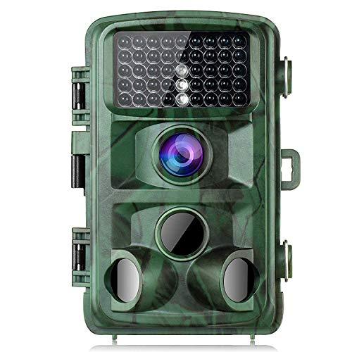 usmley Wildkamera, 16MP 1080P HD Tvird Beutekameras mit 120°Weitwinkel Infrarote 20m Nachtsicht, Wasserdichte IP66 Jagdkamera mit Bewegungsmelder zur Wildbeobachtung