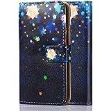 tinxi® Kunstleder Tasche für Samsung Galaxy S5 / S5 NEO Schutzhülle Flipcase Schale Cover Etui Skin Standfunktion mit Karten Slot Sternenhimmel