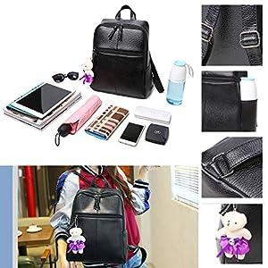 51rM9IoaA L. SS300  - Leathario Mochila Tipo Caual Escolar Mujer Cuero Sintetico de Mano Backpack Laptop para Portátiles y Netbooks