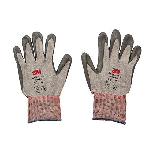 3M Comfort Grip Gants CGM-GU, Usage général (L, Gris)
