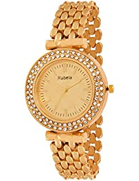 Rabela Women's Analogue Golden Dial Watch RAB-840