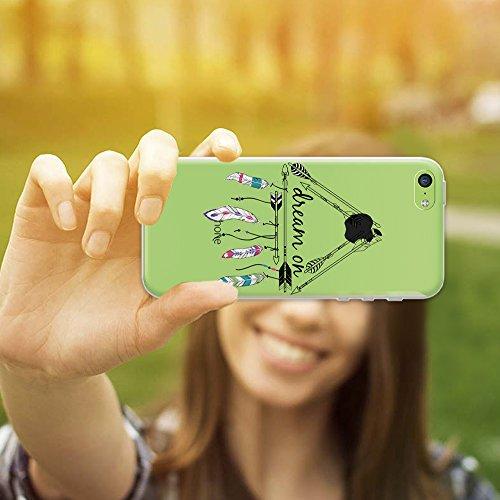 iPhone 5C Hülle, WoowCase® [ Hybrid ] Handyhülle PC + Silikon für [ iPhone 5C ] Indische Pferde Sammlung Tier Designs Handytasche Handy Cover Case Schutzhülle - Transparent Hybrid Hülle iPhone 5C D0404