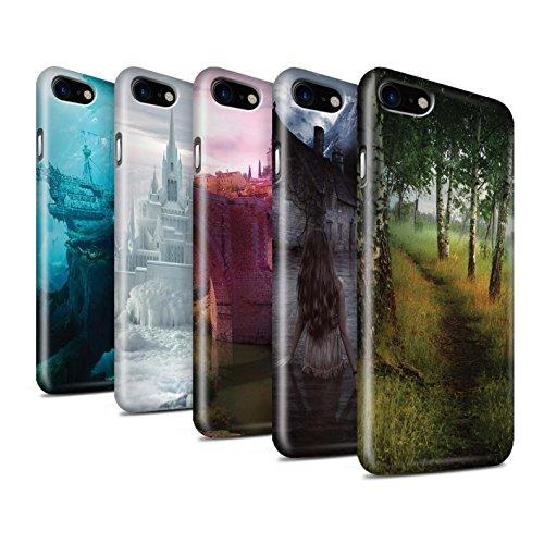 Officiel Elena Dudina Coque / Clipser Brillant Etui pour Apple iPhone 8 / Endroit Calme Design / Fantaisie Paysage Collection Pack 17pcs