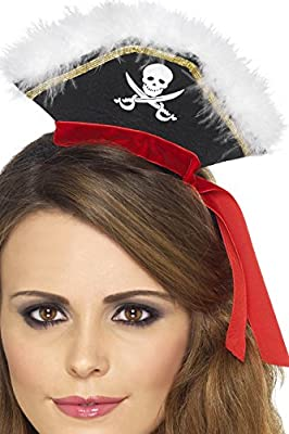 Smiffys - Serre-Tete Mini Chapeau Pirate