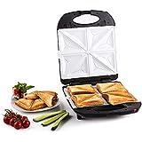 Klarstein Trinity 3 in 1 • Sandwich Maker XXL • Pro Waffeleisen • Kontaktgrill • 1300 W • 3 austauschbare Heizplattenpaare • Fettablauf • Klippverschluss • schwarz