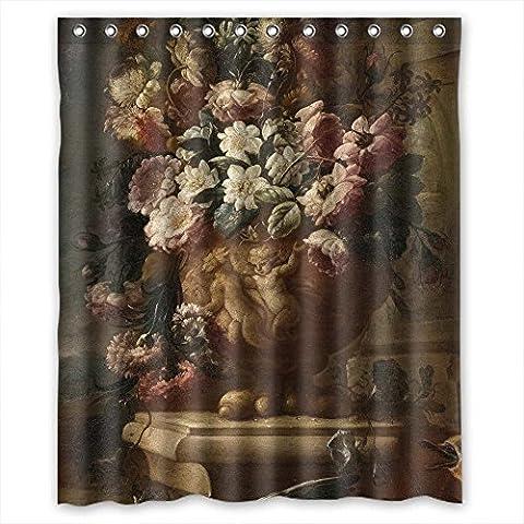 Sunsmiles Rideaux de douche Art de salle de bain drapé Largeur x Hauteur/152,4x 182,9cm/L * H 150par 180cm célèbre Peinture d'art classique Fleurs Blossoms facile à nettoyer