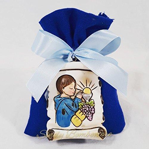 20 sacchetti bomboniere portaconfetti comunione maschio con pendente pergamena sacra kkk . (20 sacchetti)