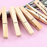 Busirde 100pcs 25 millimetri Mini di legno Photo Paper Peg Molletta Vestiti Pin clip