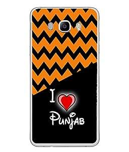 PrintVisa Designer Back Case Cover for Samsung Galaxy J7 (6) 2016 :: Samsung Galaxy J7 2016 Duos :: Samsung Galaxy J7 2016 J710F J710Fn J710M J710H (I Love Punjab Punjabi State Rivers)