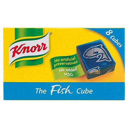 Knorr - Bouillon de poisson - 8 cubes - lot de 4 boîtes de 80 g