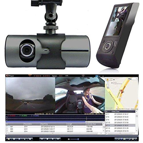Hansee auto guida Registratori, doppia lente, veicolo DVR, 2.7schermo 16: