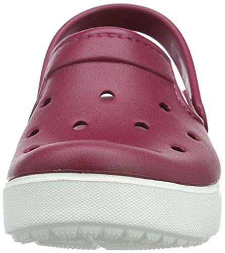 Crocs crocsCitiLane Clog Pmgr/Whi - Zoccoli Unisex - Adulto Viola (Pomegranate/White)