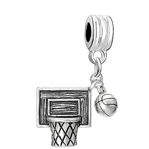 Sexy Damen-Basketball Net Hoop funkelt mit Dangling für Schlange Kette Armbänder