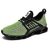WateLves Herren Laufschuhe Fitness stra?enlaufschuhe Sneaker Sportschuhe atmungsaktiv rutschfeste Mode Freizeitschuhe(gr¨¹n,39 EU)