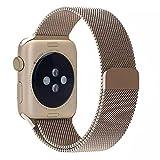 AWStech Apple Watch Strap 38mm, Apple Watch 2 Armband 38mm, Retro Golden Sportuhr Watchband,...