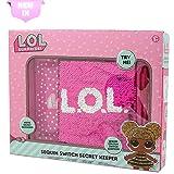 L.O.L. Surprise ! Girls Secret Diary Sequin Pink Diary for Girl Children Secret Keeper Journal for Girl Lol Confetti Dolls