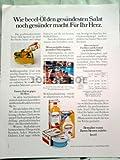 70er Jahre : BECEL/WIE BECEL-ÖL... - alte Werbung /Originalwerbung/ Printwerbung /Anzeige /Anzeigenwerbung GROSSFORMAT 21 x 27 cm