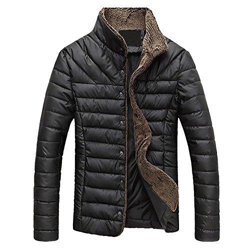 CRAVOG Daunenjacke Herren Winterjacke Steppjacke Sweatjacke Sportjacke Wärmejacke Daunen Jacke Mit Fur zum Outdoor Camping Wandern