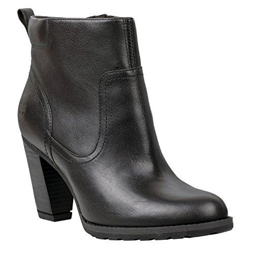 Timberland Damen EK Stratham Hights Side Zip Ankle Boots Schwarz (8613A)