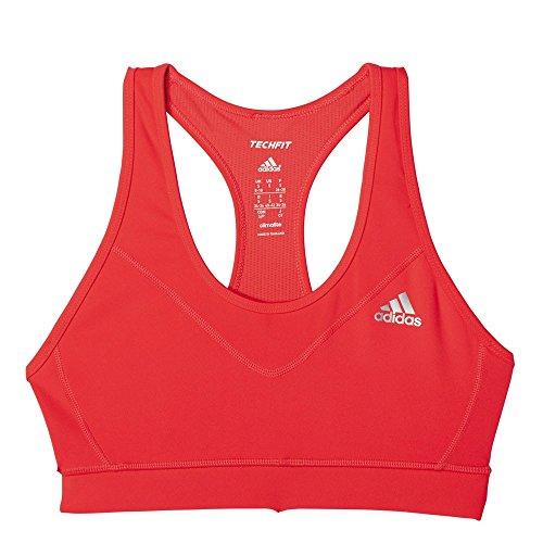 Adidas Brassière de sport Techfit Padded Rouge - Rouge/Argent