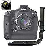 First2savvv LLX-DD1DX-01 Customisé L Bracket poignée à main Quick Release L Plaque pour Canon EOS 1DX + Niveau à bulle