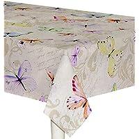 a9ec1d423e Preziosa Tovaglia rettangolare per 12 posti rasatello cotone Thango Farfalle
