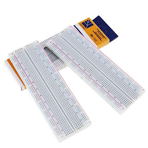 5.6 Block (SING F LTD 3X MB-102 830 Point Lötfreie Prototype Breadboard PCB Board für Arduino Blocks 16,5 x 5,6 x 0,9 cm)