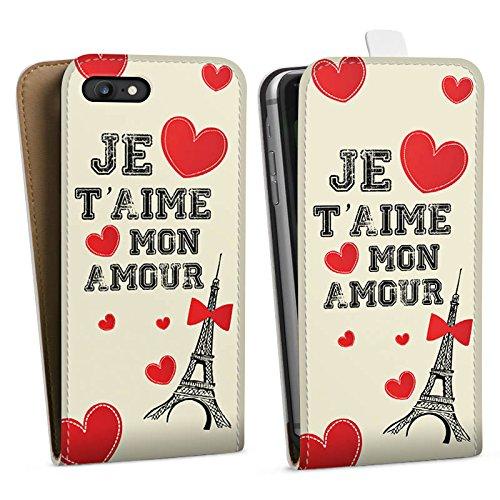 Apple iPhone X Silikon Hülle Case Schutzhülle Herz Spruch Mon Amour Downflip Tasche weiß