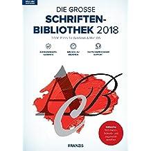 FRANZIS Die große Schriftenbibliothek (2018) für Windows & Mac OS Software