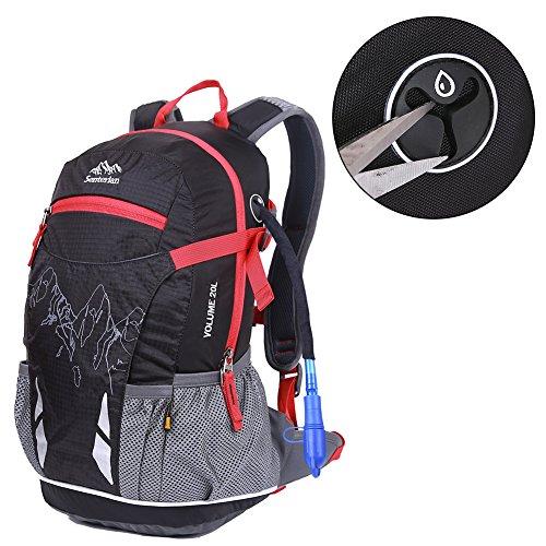 EGOGO 20L Leichtes Wandern Rucksack Fahrrad Rucksack Daypack Rucksack mit Regen Abdeckung S2321 Schwarz