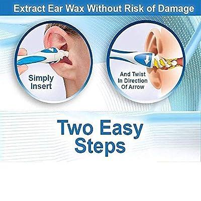 Chbmarteu Earwax Remover, Soft Spiral Ear Cleaner,Ear Cleaner, Ear Spoon, Ear Cleaner,Ear Wax Cleaner, Ear Wax Remover Removal Cleaning Tool with 16 Replacement