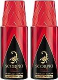 Scorpio - Déodorant pour Homme - Rouge - Atomiseur 150 ml - Lot de 2