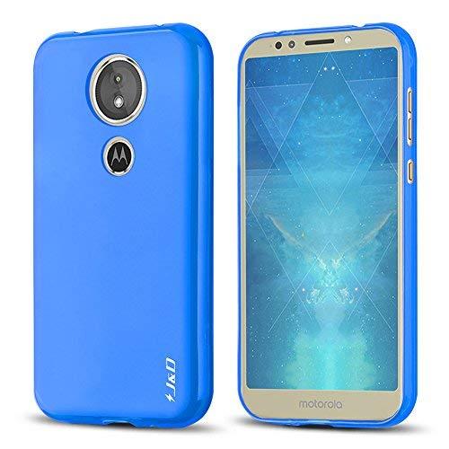 J & D Moto E5 Hülle, [Leichtgewichtig] [Fallschutz] Stoßfest TPU Slim Hülle für Motorola Moto E5 - [Nicht kompatibel mit Moto E5 Plus] - Blau