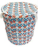 Souxe Polycotton Multipurpose Pop Up Laundry Bag with Handle (Small - 30L, Colour May Vary)