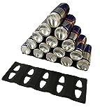 2x Stapelhilfe für Flaschen & Dosen Stapeln Stapel-Matte aus Silikon EXTRA GROSS – für bis 15 Dosen oder Flaschen - SCHWARZ