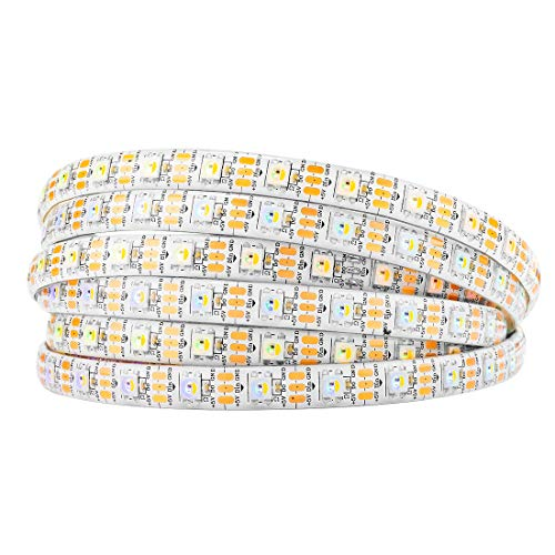 BTF-LIGHTING RGBW RGBCW White SK6812 (Similar WS2812B) 16.4ft 5m 60leds/pixels/m Individually Addressable Flexible 4 color in 1 LED Dream Color LED Strip Waterproof IP65 DC5V