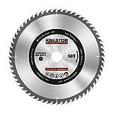 KRT020428 Hartmetall Kreissägeblatt für Holz Ø254mm Bohrung 30mm Dicke 3 mm Zähne 60 Holzsägeblatt + 3 Reduzierringe
