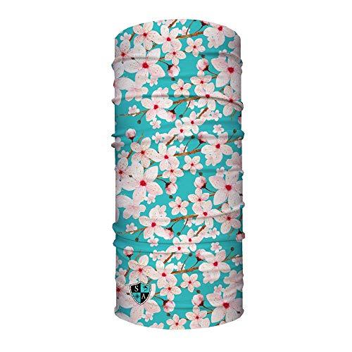 SA Société Cherry Blossom Face Shield/Loop Écharpe/Bandana/Cagoule. Multifonction/Headwear/écharpe. SPF 40. activité de Plein air Masque. randonnée/pêche/Cyclisme/Moto