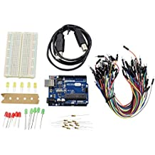 REES52 R3_400 Basic Starter Kit Arduino UNO Breadboard LED Jumper Wire for Arduino