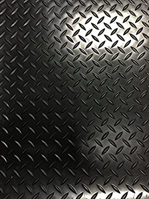 "Checker Plate Rubber Garage Flooring Matting | 4ft 9"" wide (1.5 Metres) 