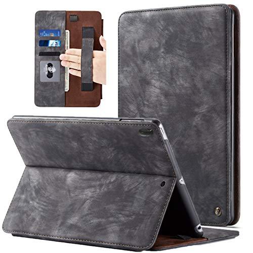 BELKA iPad Pro 11 Zoll 2018 Hülle, Case für iPad Pro 11 2018 Luxus Leder Flip Cover mit Stifthalter Handschlaufe Kartensteckplätze Hard Back Cover Kompatibel für Apple iPad Pro 11 Zoll, Schwarz