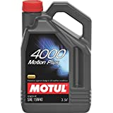 Motul 4000 Motion Plus 15W-40 API SL Mineral Engine Oil for Diesel and Petrol Cars (3.5 L)
