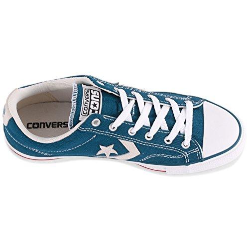 Converse Star Player Core Canvas Ox, Zapatilla Unisex-adulto (azul Blanco)