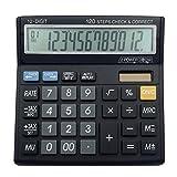 ZHAS Calculadora electrónica multifunción, calculadora de sobremesa de 12 bits, cálculo de impuestos financieros profesionales calculadora electrónica multifunción