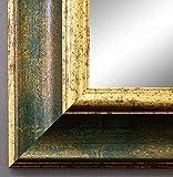 Online Galerie Bingold Spiegel Wandspiegel Badspiegel Flurspiegel Garderobenspiegel - Über 200 Größen - Acta Grün Gold 6,7 - Außenmaß des Spiegels 40 x 100 - Wunschmaße auf Anfrage - Antik, Barock