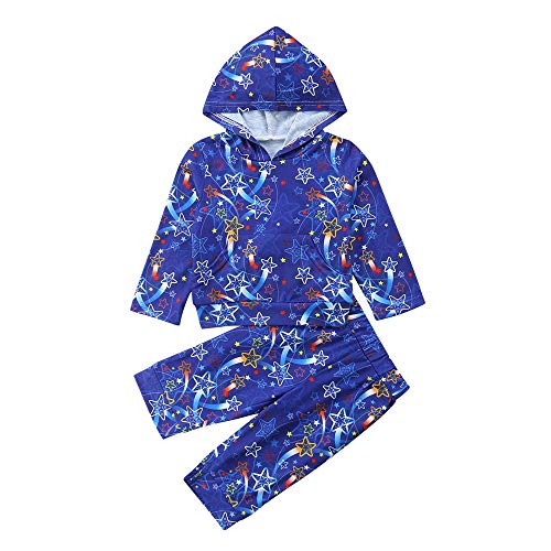 Filles Vêtements Ensemble, Bambin Enfants bébé Filles Long Manches de Noël  Star Print Tops + 2e79df51245