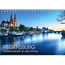 Regensburg - Welterbestadt an der Donau (Tischkalender 2018 DIN A5 quer): UNESCO-Welterbestadt Regensburg (Monatskalender, 14 Seiten ) (CALVENDO Orte) [Kalender] [Apr 07, 2017] Thoermer, Val
