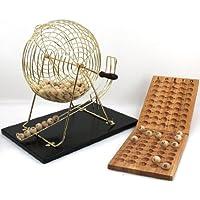 Unbekannt Großes Bingo / Lotto Set, mit großer Trommel, Höhe ca. 43 cm