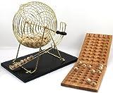 Großes Bingo / Lotto Set, mit großer Trommel, Höhe ca. 43 cm, Typ:Zahlen 1-75