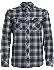 Icebreaker Herren Lodge Long Sleeve Flannel Shirt Hemd